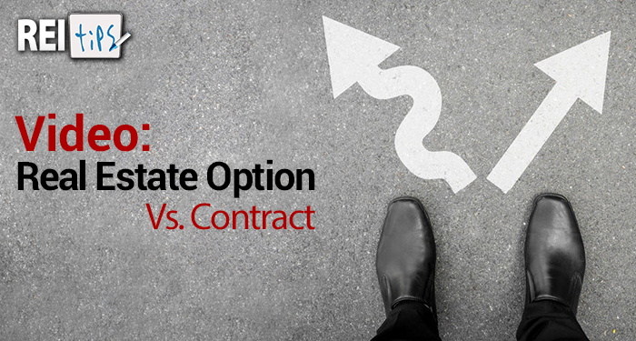 Video: Real Estate Option Vs. Contract